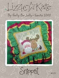 By Golly Be Jolly (Santa 2000) - Cross Stitch Pattern