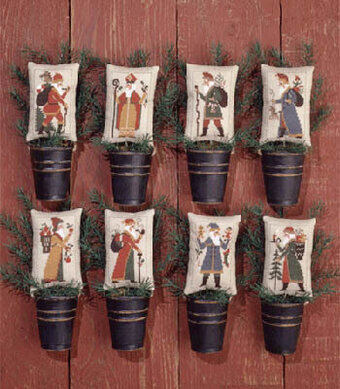 Old World Santas II - Cross Stitch Pattern