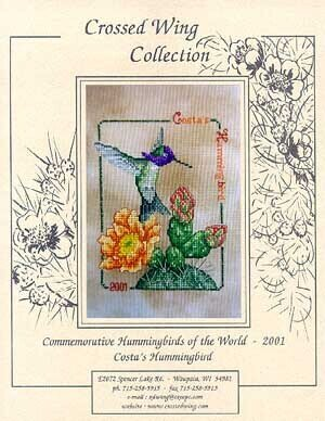 Costa's Hummingbird 2001 - Cross Stitch Pattern