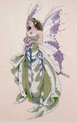 July's Amethyst Fairy - Mirabilia Cross Stitch Pattern