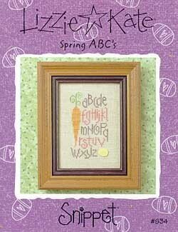 Spring ABC's - Cross Stitch Pattern