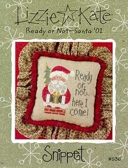 Ready or Not Santa '01 - Cross Stitch Pattern