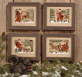 Woodland Santas - Cross Stitch Pattern