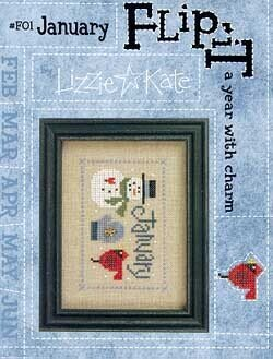 Flip-It Charm January - Cross Stitch Pattern