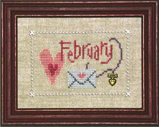 Flip-It February (with Charm) - Cross Stitch Pattern