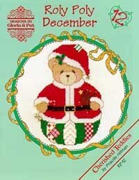 Roly Polys December Cherished Teddies Cross Stitch Pattern