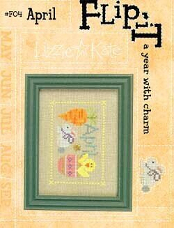 Flip-It Charm April - Cross Stitch Pattern