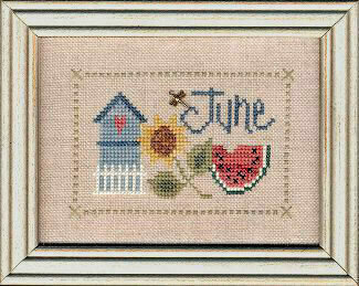 Flip-It Charm  June - Cross Stitch Pattern