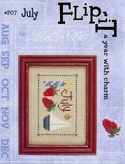 Flip-It Charm  July - Cross Stitch Pattern