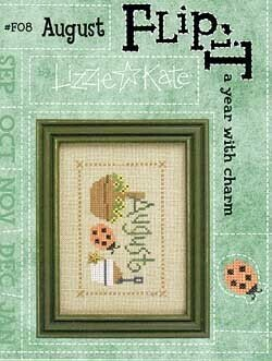 Flip-It Charm August - Cross Stitch Pattern