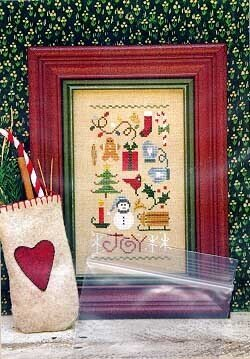 Joy Sampler (With Embellishments) - Cross Stitch Pattern
