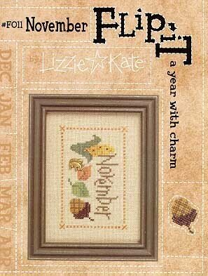 Flip-It Charm November - Cross Stitch Pattern