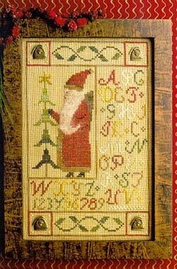 Santa Button Sampler - Cross Stitch Pattern