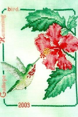 Calliope Hummingbird 2003 - Cross Stitch Pattern