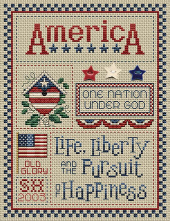 Life And Liberty (with buttons) - Cross Stitch Pattern