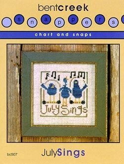 Chart And Snaps July Sings - Cross Stitch Pattern