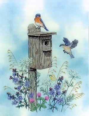 Bluebird Trail, The - Cross Stitch Pattern