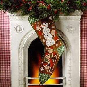 Snow Day Christmas Stocking - Cross Stitch Pattern