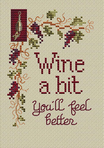 Wine a Bit - Cross Stitch Pattern