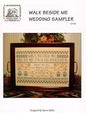 Walk Beside Me (Wedding Sampler) - Cross Stitch Pattern
