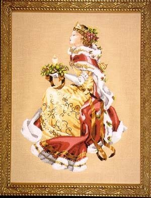 Royal Holiday (Christmas Queen) - Mirabilia Cross Stitch