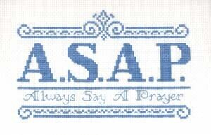 Always Say a Prayer - Cross Stitch Pattern