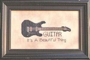 Guitar It's a Beautiful Thing - Cross Stitch Pattern