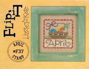 Flip-It Stamp April - Cross Stitch Pattern