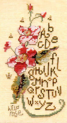 Wild Rose Sampler - Cross Stitch Pattern