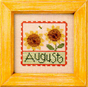 Flip-It Stamp August - Cross Stitch Pattern