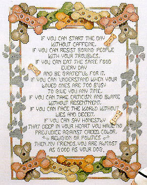 Dog Bone Wisdom - Cross Stitch Pattern