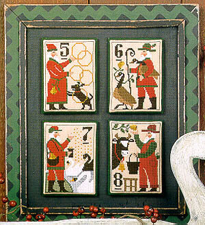 Santa's 12 Days 5 - 8 - Cross Stitch Pattern