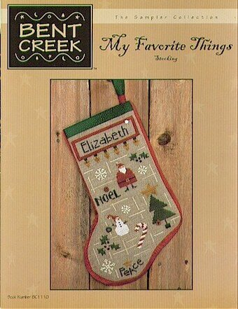 My Favorite Things Stocking - Cross Stitch Pattern