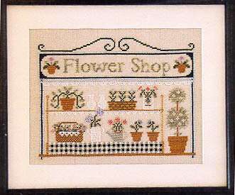 Flower Shop, The - Cross Stitch Pattern