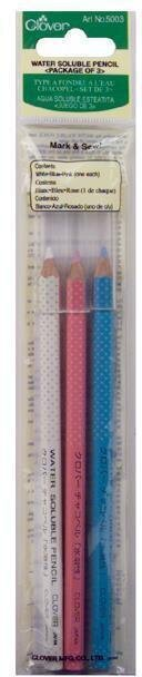 White, Pink & Blue 3/Pkg Water-Soluble Pencils