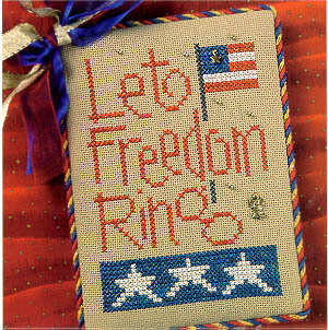 Let Freedom Ring (Snippets) - Cross Stitch Pattern