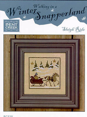 Winter Snapperland-Sleigh Ride - Cross Stitch Pattern