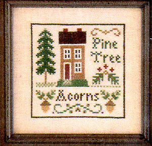 Acorns & Pines - Cross Stitch Pattern