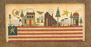 Patriotic Landscape - Cross Stitch Pattern
