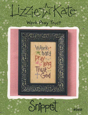 Work Pray Trust - Cross Stitch Pattern
