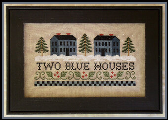 Two Blue Houses - Cross Stitch Pattern