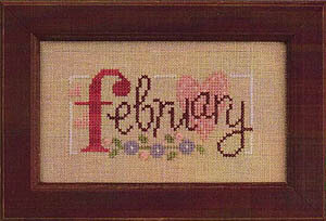 Flip-It Bits February - Cross Stitch Pattern