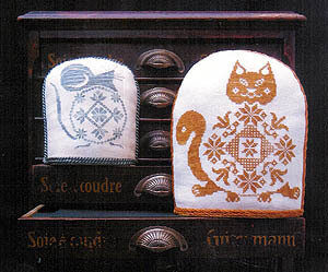 Quaker Cat And Mouse - Cross Stitch Pattern