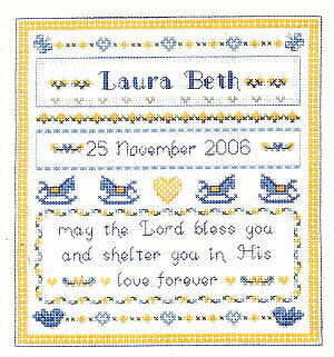 Baby Blessing (Cathy Bussi 1941) - Cross Stitch Pattern