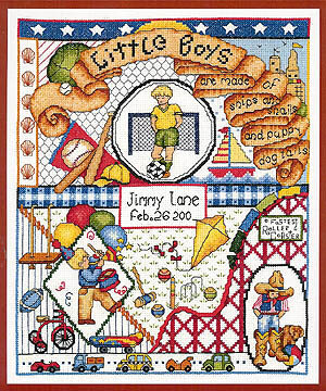 Little Boys Are Made Of - Cross Stitch Pattern
