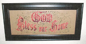God Bless Our Home - Cross Stitch Pattern
