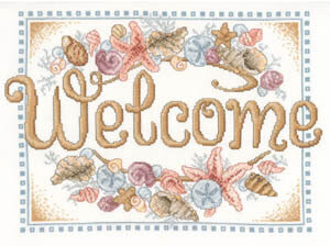 Seashell Welcome - Cross Stitch Pattern