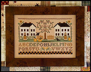 Two White Houses - Cross Stitch Pattern