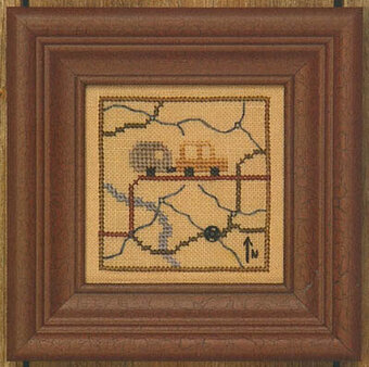 Snappers Red Thread  - Road Trip - Cross Stitch Pattern