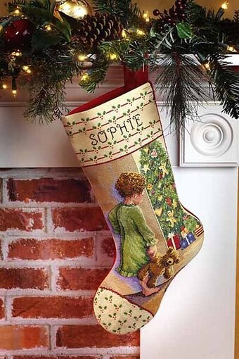 Christmas Morning Stocking - Cross Stitch Kit